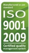 Sériovo vyrábané v Európe od roku 1999, v súlade s ISO 9001.